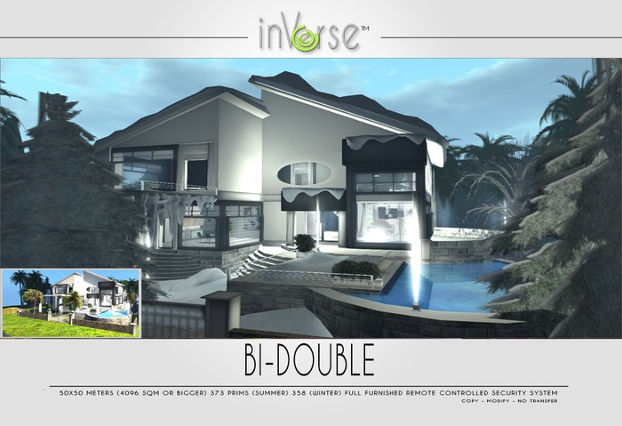 Bi-doubleSUMMER&WINTER multianimated full furnished house skybox. Choose your season!