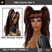 A&A Gloria Hair Milk Chocolate (Color 5). Long straight flexi hairstyle with pigtails and Menu Colorable Streaks