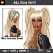 A&A Gloria Hair Platinum (Color 10). Long straight flexi hairstyle with pigtails and Menu Colorable Streaks