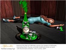 "Aphrodite Halloween drinks tray ""Toxic swamp fog"""