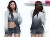 CLASSIC RIGGED MESH Women's Boatneck Long Sleeve Asymmetrical Cropped Sweater Jumper Top - 4 TEXTURES