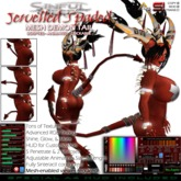 Animated Mesh Demon Tail - Spaded, Jewelled