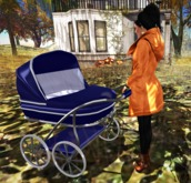 Baby stoller / Blue from <<Yanka>>