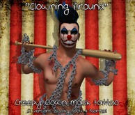 "::ED:: ""Clowing around"" Creepy clown mask Tattoo Unisex"