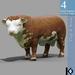 3D / Cow Statue / 4 land impact