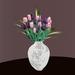 Blumen 8 mit Vase in 80 Texturen
