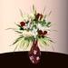 Blumen 6 mit Vase in 80 Texturen