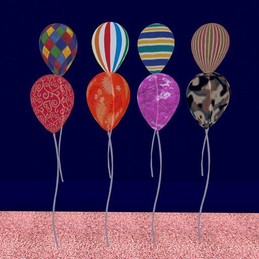 8 Textured Balloons (modify/copy)