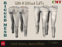 [M] Solid Skinny Jeans -White-(wear & touch)
