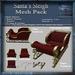 Santa's Sleigh Mesh Pack, Christmas Holiday Builders Sled Kit, Mesh & Textures Full Perm