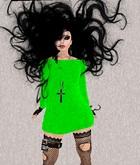 Mesh Halloween Green Dress