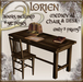 Lorien medieval chair and desk