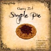 [DDD] Pie - Cherry (Tart)  - 100% Mesh, Unscripted, 1 prim, no Anims