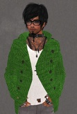 Mesh Mens Jacket with Under Tshirt Green with White Tshirt