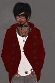 Mesh Mens Jacket Dark Red with White Tshirt Promo
