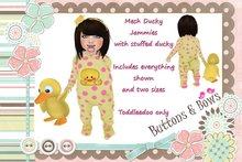 Buttons & Bows Mesh Ducky Jammies
