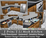 1 Prim Full Functional Kitchen, Animated, Texture Change