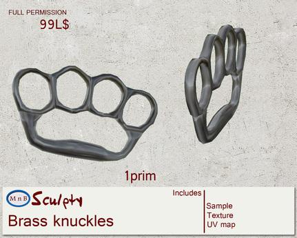 *~M`n B~* Brass knuckles (box)