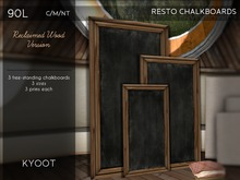 Kyoot Home - Resto Chalkboards