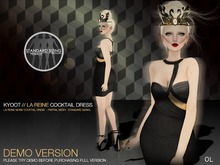 Kyoot - La Reine Noire Cocktail Dress DEMO