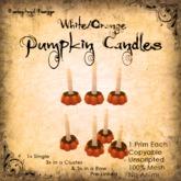 [DDD] Tall Pumpkin Candle Set - W/O  - 100% Mesh, Unscripted, 1 prim, no Anims