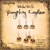 [DDD] Tall Pumpkin Candle Set - W/W