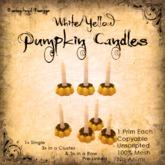 [DDD] Tall Pumpkin Candle Set - W/Y