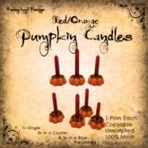 [DDD] Tall Pumpkin Candle Set - R/O  - 100% Mesh, Unscripted, 1 prim, no Anims