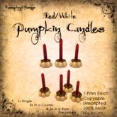 [DDD] Tall Pumpkin Candle Set - R/W