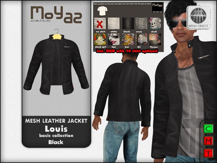 Louis mesh leather jacket ~ Basic collection - Black