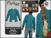 Louis mesh leather jacket ~ Basic collection - Turquoise