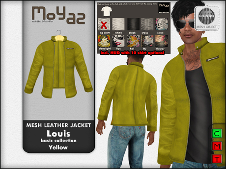 Louis mesh leather jacket ~ Basic collection - Yellow