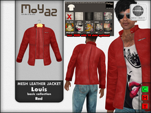 Louis mesh leather jacket ~ Basic collection - Red