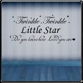 *~LT~*  Twinkle Twinkle  Wall Art Decal