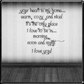 *~LT~* My Heart Wall Art Decal {~FREE~}