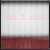 *~LT~* Its's  a Girl  Wall Art Decal