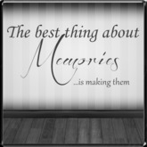 *~LT~* Making Memories Wall Art Decal