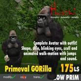 Gorilla Avatar MALE  ugly Avatar , animal avatar, furry avatar