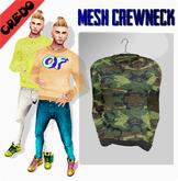 "CREDO - ""Camouflage"" Crewneck GREEN"
