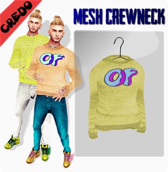 "CREDO - ""Odd Future"" Crewneck YELLOW"