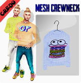 "CREDO -  ""Burger"" Crewneck BLUE"