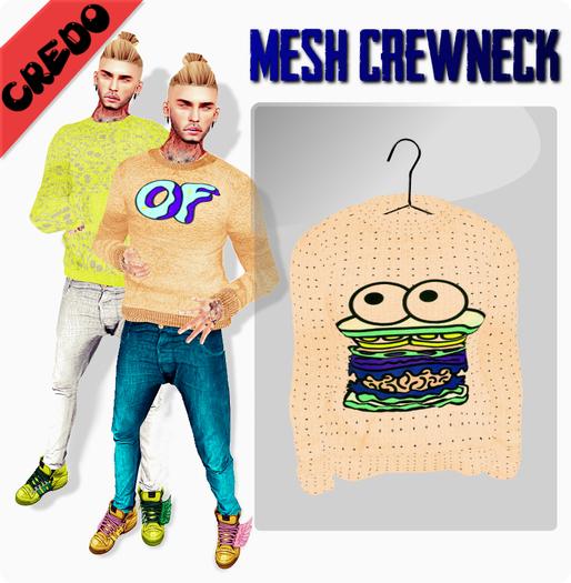 "CREDO - ""Burger"" Crewneck CREAM"