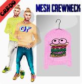 """CREDO - """"Burger"""" Crewneck PINK"""