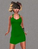 Mesh Tank Dress Green