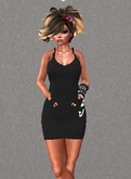 Mesh Tank dress Black