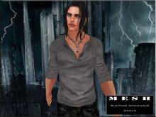 :: PROMO :: MESH Rolled Sleeves Shirt Gray