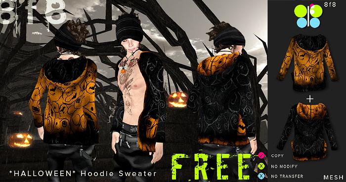 FREE GIFT - Mesh Hoodie Sweater *Halloween*