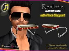 ::CreaTive DesiGn'S:: 0048 - Realistic Harmonica w/Neck Support