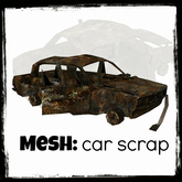 Urban Rusted Wreckage Burning car wreck