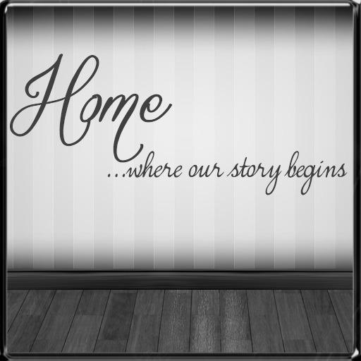 *~LT~* Home Begins Wall Art Decal